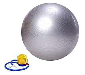 95CM Exercise Balls Gymnastic Balance Yoga Training Ball Fitnees Pilates Sports Silver