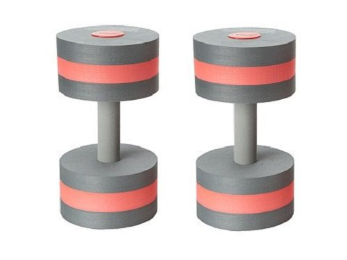 Speedo Aqua Fitness Swim Training Barbells, Charcoal/Red, One Size Speedo Accessories 753645