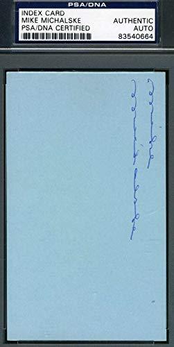 MIKE MICHALSKE PSA DNA Coa Autograph 3x5 Index Card Hand Signed Authentic