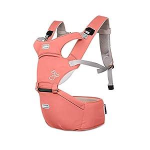 SONARIN Porte bébé Ergonomique avec Siège à Hanche,boucle rotative à papillon,Pur Coton Léger et Respirant/Multiposition…