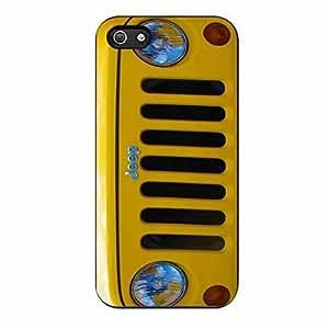 Jeep Wrangler Yellow iPhone 5 Case / iPhone 5s Case (Black Plastic)
