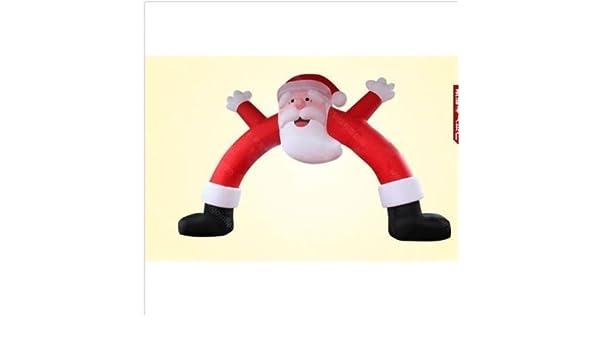 Arco de Navidad inflable gigante de 6 m con Papá Noel para ...