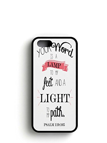 Flexible Soft Rubber TPU Case Cover Apple iPhone 6 Plus/6S Plus – your word is a lamp to my feet and a light to my path psalm 119:105