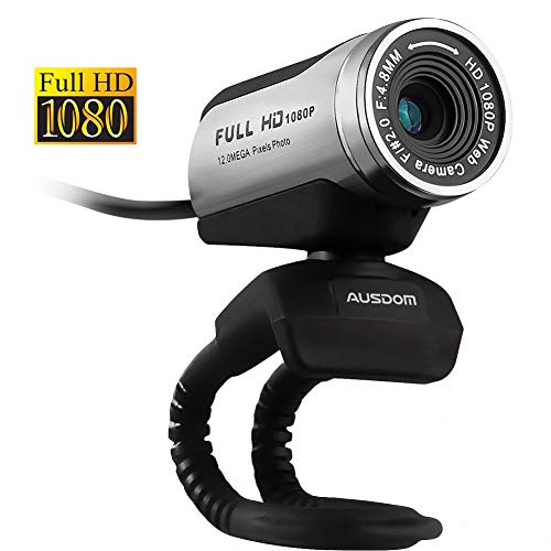 (AUSDOM Webcam 1080p Computer Camera Skype Web Cam with Mic Desktop or Laptop Network Camera for Widescreen Video Calling and Recording)