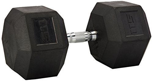 CAP Barbell Rubber Dumbbell Contoured
