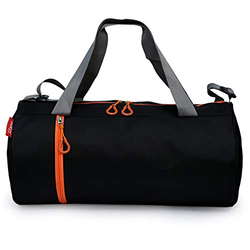 Sfane Polyester Black Men & Women Trendy Black Sports Duffle/Gym Bag/Shoulder Bag