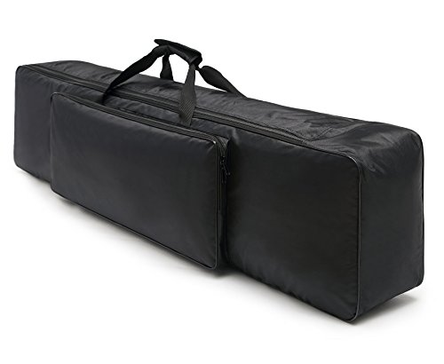 NKTM 88 Key Electric Piano Keyboard Gig Bag,Adjustable and Portable Backpack Straps(NOT FIT ALL 88-KEY KEYBOARDS) 52 x 12 x 6in by NKTM