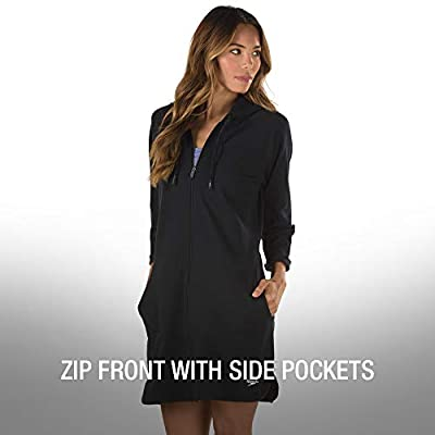 Speedo Women's Hooded Aquatic Fitness Robe and Cover-Up, with Full Front Zip: Clothing