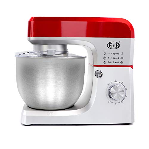 Snowtaros Stand Mixer, 7.5QT 6 Speed Tilt-Head Food Mixer, Electric Mixers Household Kitchen Aid with Dough Hook, Wire Whip & Beater, Large Stainless Steel Bowl