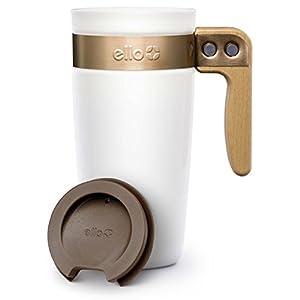 Ello Fulton BPA-Free Ceramic Travel Mug with Lid, White, 16 oz.