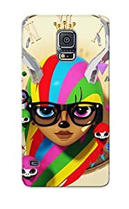 Crazinesswith Scratch-free Phone Case For Galaxy S5- Retail Packaging - Deer Hipster Girl