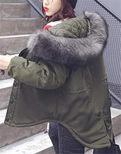 Sintética Chaqueta Parkas Otoño Huixin Manga Termica Fashion Piel Armgrün Mujer Larga Encapuchado Acolchado Casual De Cremallera Invierno Abrigo Acolchada Parkas Chaqueta Invierno Modernas Anchas Cuello tgxwzg8A