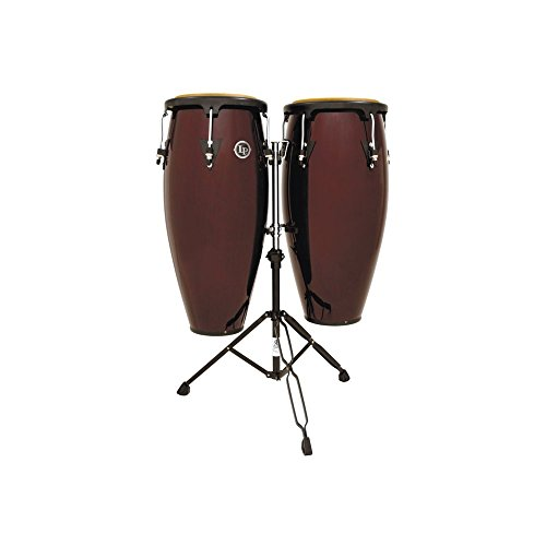 Latin Percussion LP646NY-DW 10-Inch and 11-Inch City Series Conga Set with Stand - Dark Wood ()