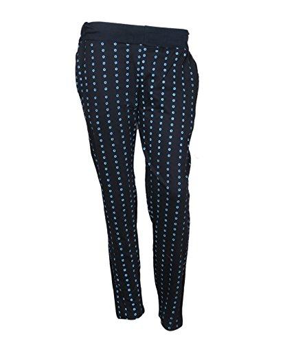 Indistar Women Black Printed Lower/Track Pants