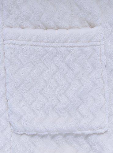 Applicate Testurizzato Accappatoio oodji Tasche Ultra con Tessuto 1200g Donna in Bianco CwUH8Zfq