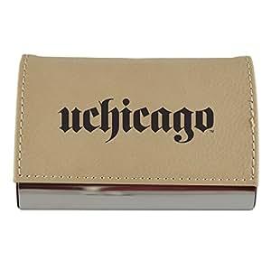 Amazon Velour Business Cardholder University Of Chicago Tan