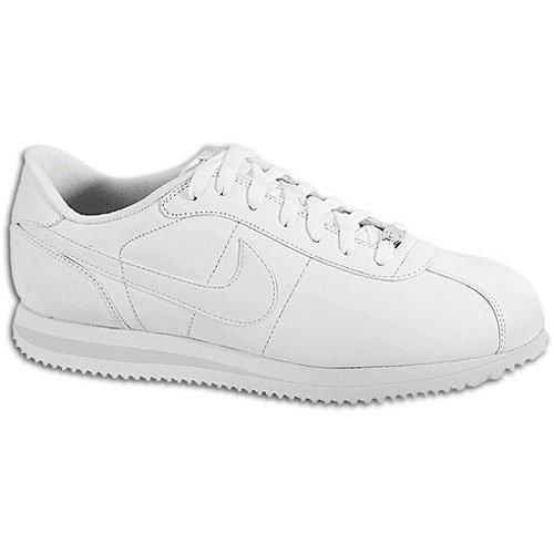 White Leather Zen - Nike Men's NIKE CORTEZ BASIC LEATHER '06 CASUAL SHOES 7.5 (WHITE/WHITE/LIGHT ZEN GREY)