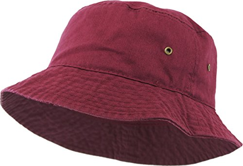 H-219-64 Packable Outdoor Hiking Camping Fishing Cap Bucket Hat - (Embroidered Safari Hat)