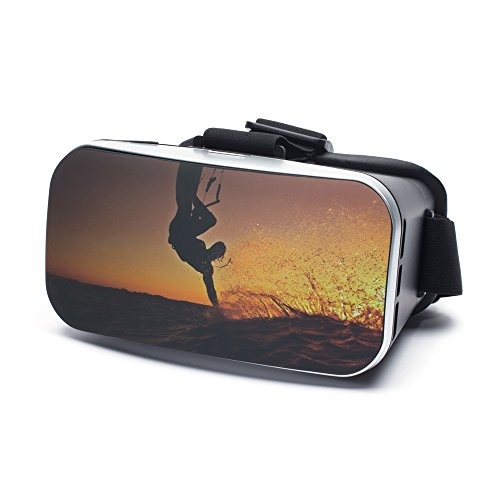 VR Virtual Reality Brille by aricona - Gaming Headset für Filme & Spiele in 3D Format für 4.0 - 6.0 Zoll Smartphones, in Sunset Design