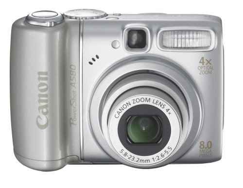 Canon PowerShot A580 8MP Digital Camera with 4x Optical -