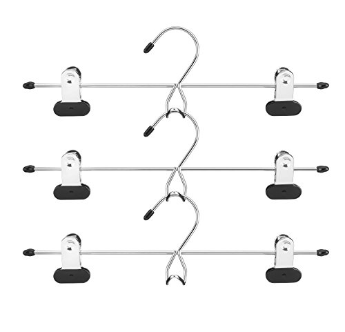 Whitmor Add on Skirt & Slack Hangers Chrome / Black (Set of 3) by Whitmor