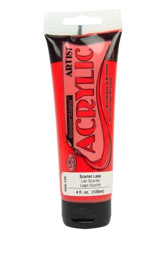 (Royal & Langnickel Essentials Acrylic Tube Paint, 120ml, Scarlet Lake)
