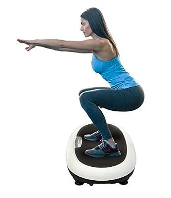 Vibration Platform Fitness Machine, Platform Exercise & Workout Trainer 300 Watt Full Body Slim Work Out (HURVBTR35)