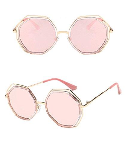 de LYM moda de amp; señoras de Gafas de Gafas Gafas 5 hombres coreana Color personalidad las de amp;Gafas de sol la X852 3 elegantes de redondas protecciónn los sol 1q1EnrxR