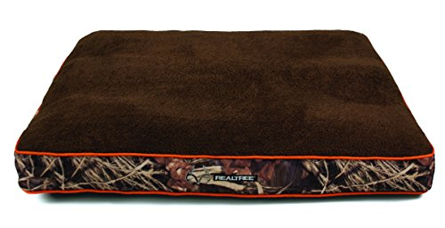 Dallas WG3040-930.1 Realtree Gusseted Pet Bed, Camo with Orange Piping, 40