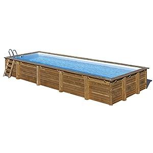 Gre 788032 Piscina con bordi Piscina rettangolare Blu, Marrone piscina fuori terra 1 spesavip