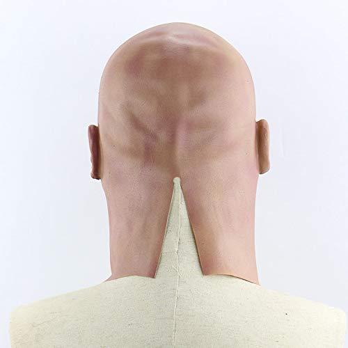 FinGo Horror Kahler Mann Charakter Kopfbedeckungen Halloween Horror FinGo Scary Performance Mask ca18eb