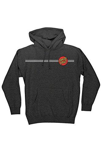 Logo Santa - Santa Cruz Mens Classic Dot Hoody Pullover Sweatshirt 2X-Large Charcoal Heather