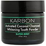 Active Charcoal Teeth Whitening Powder,Super Mint, KARBON, By the creators of Dr. Brite