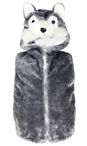 Bioterti Kids' Animal Hooded Vest for Dress Up/Manufacture/16 Amazing Styles (Small, Husky) -