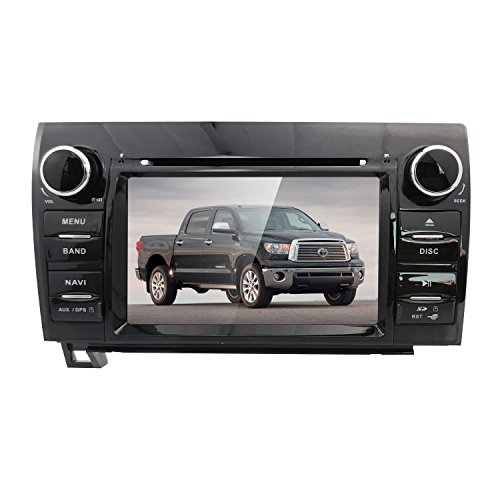 (hizpo 7 Inch Digital Touch Screen DVD GPS Navigator Car Stereo Fit f or Toyota Tundra 2007-2013 Toyota Sequoia 2008-2014 Support RDS Bluetooth Mirrorlink Canbus SWC SD USB Input)