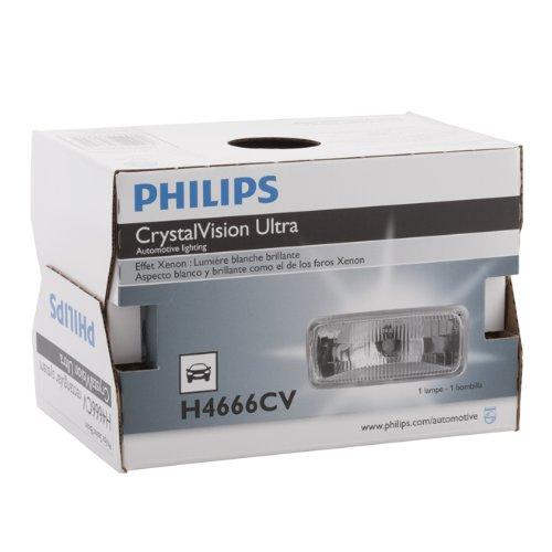 Philips H4666 CrystalVision ultra Upgrade Xenon-Look Halogen Headlight, 1 Pack