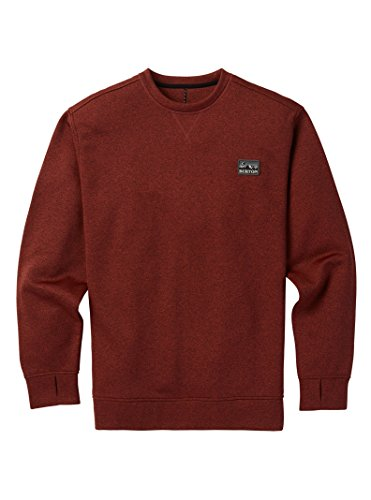 Burton Men's Oak Crew Sweatshirt, Bitters Heather, X-Large