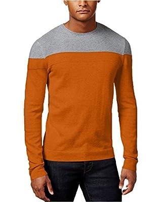 Calvin Klein Men's Crew-Neck Colorblocked Shirt