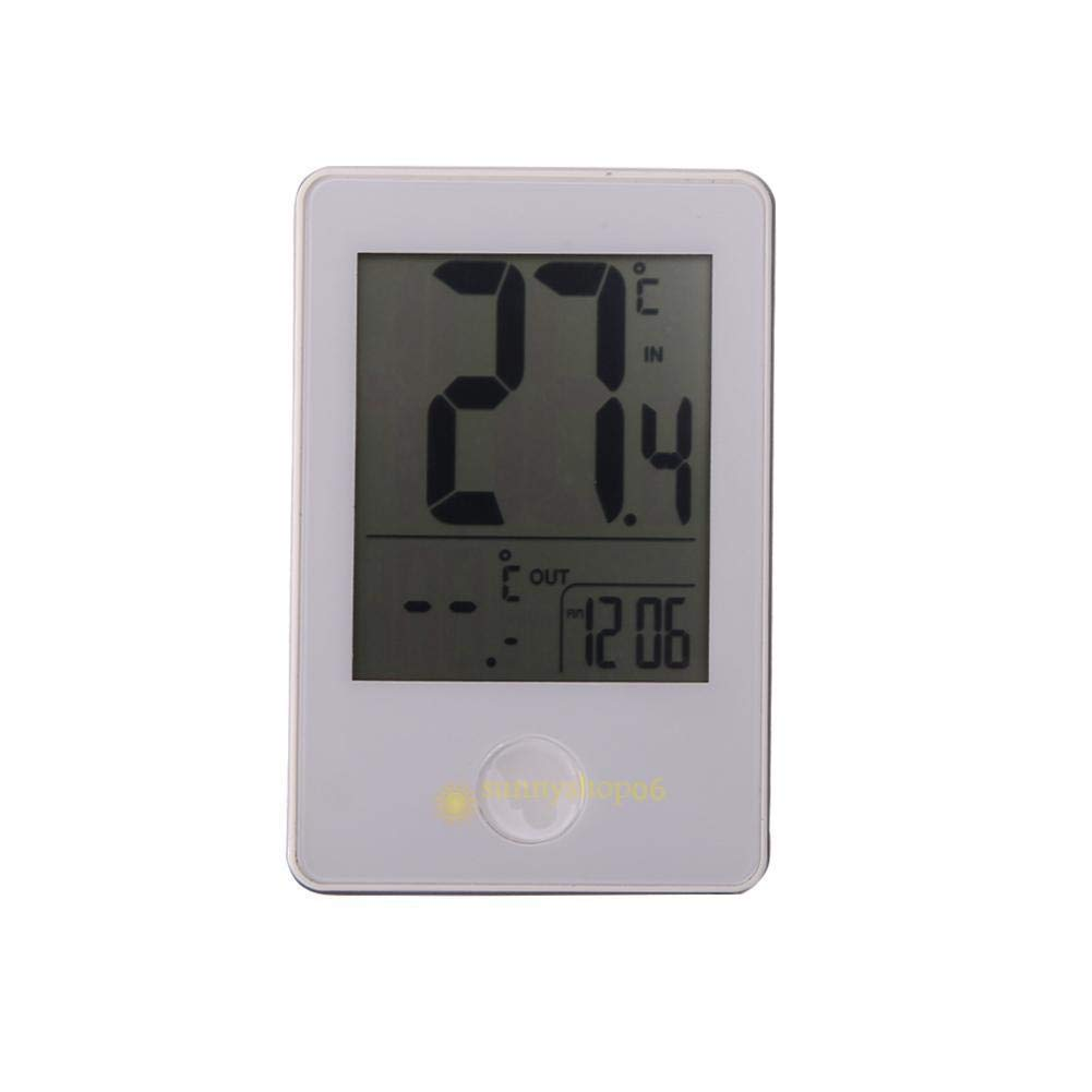 FidgetFidget Wireless Digital Thermometer Clock for Indoor Outdoor Home Use(White) SS6