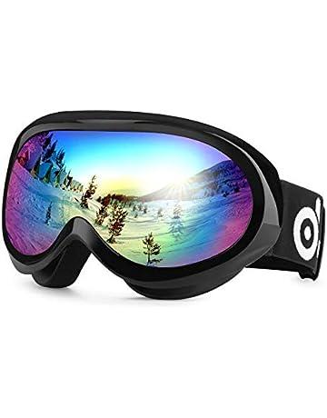ecded81289f4e5 Odoland Lunettes de Ski Masque de Snowboard pour Enfants-Anti-UV400, Anti-