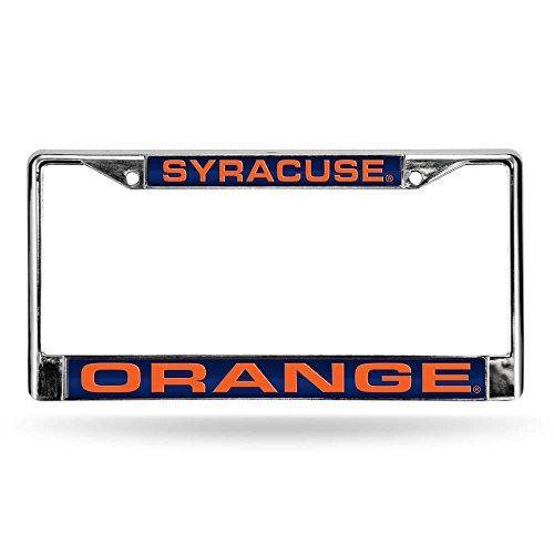 Rico Industries NCAA Syracuse Orange Laser Cut Inlaid Standard Chrome License Plate Frame