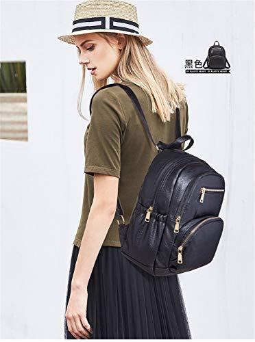 Mochila mochila mujer 2018 capacidad viaje de mochila gran viaje bolsa de Negro mochila 0gxqn0FrOX