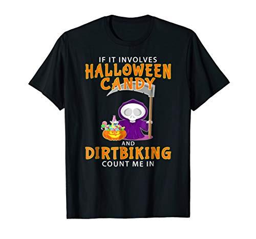 Halloween Dirtbiking T-shirt Funny Motocross Bike -