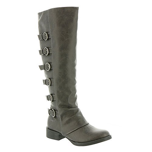 Blowfish Women's Kara Motorcycle Boot, Grey Texas, Size 6.0