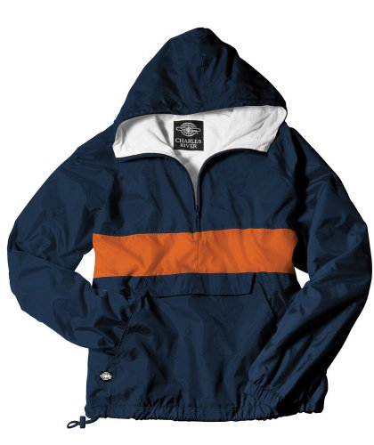 Charles River Apparel Unisex Adult Classic CRS Pullover, 3XL Navy/Orange