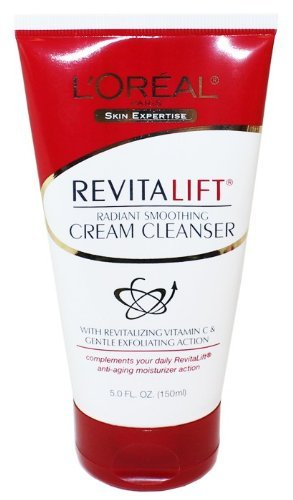 L'Oreal Dermo-Expertise RevitaLift Radiant Smoothing Cream Cleanser 5 oz ( Pack of 4)