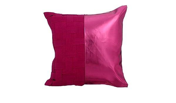 Diseñador rosado fucsia fundas cojines, armadura de cesta ...