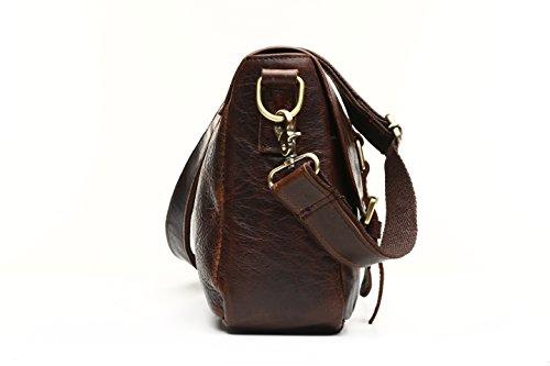 JOYIR - Bolso bandolera  Hombre marrón chocolate 40L x 27H x 8D inch