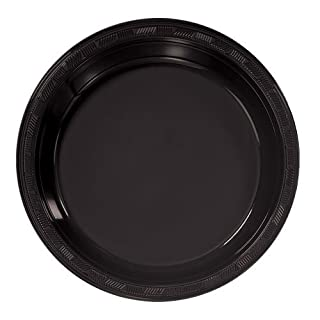 Hanna K. Signature Collection 50 Count Plastic Plate, 9-Inch, Black (B001DZ5U06) | Amazon price tracker / tracking, Amazon price history charts, Amazon price watches, Amazon price drop alerts