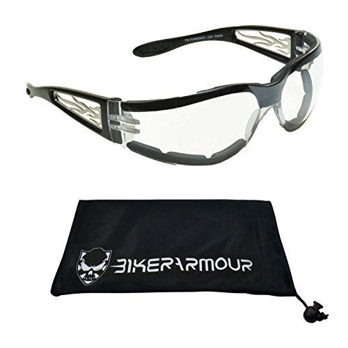b3c93f8d21d70 Motorcycle Sunglasses Foam Padded for Men and Women. Chrome Flame ...